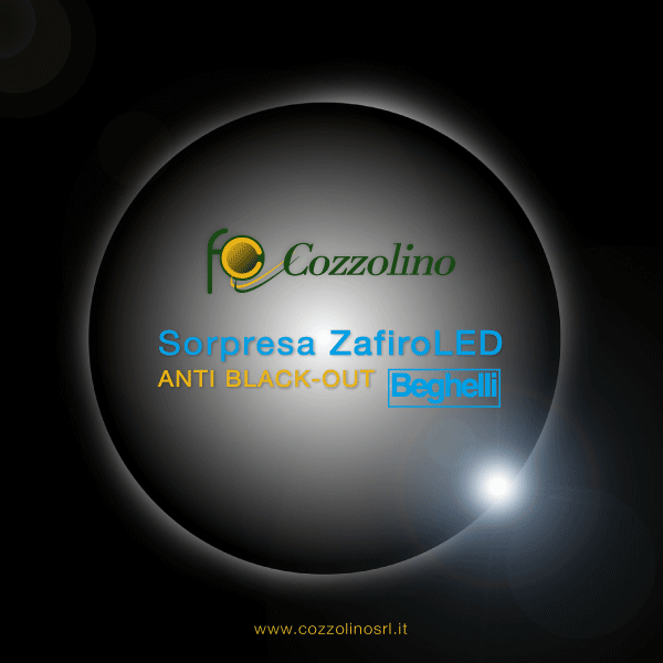 Cozzolino, Giugliano, Sant'Anastasia, Sorpresa ZafiroLED Beghelli, lampadina LED, anti black-out