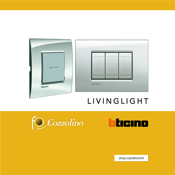 Livinglight, BTicino, serie civile, placche, Cozzolino