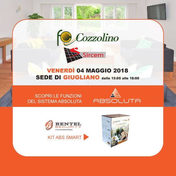 centrale di allrme, Absoluta Smart, Kit ABS Smart, Bentel Security, Info Day, Cozzolino, Giugliano