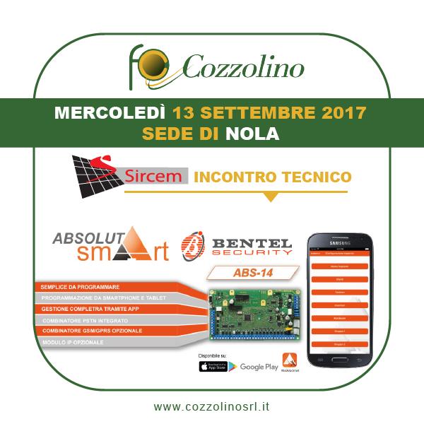 Cozzolino srl, Nola, antintrusione, Absoluta Smart, Bentel Securityincontro tecnico