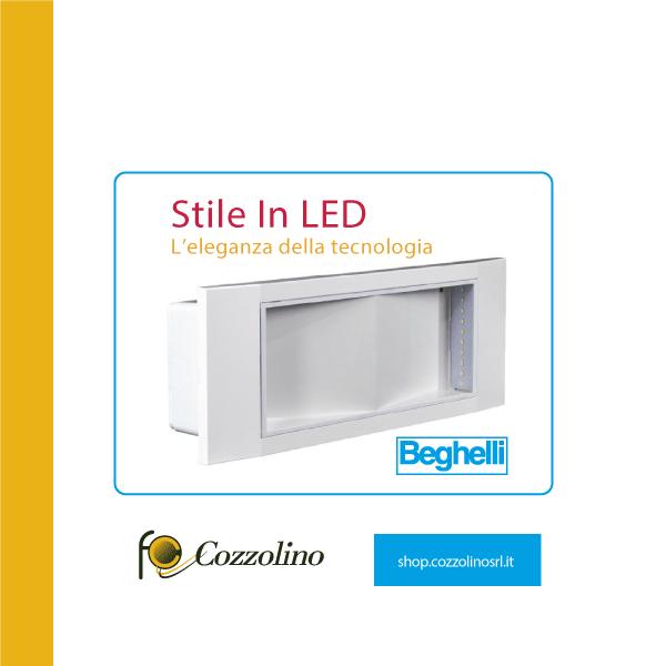 lampada di emergenza, beghelli, stile in LED, Beghelli 1499, Cozzolino, illuminazione, illuminazione a LED