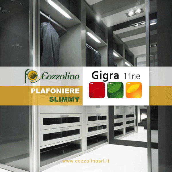 plafoniere, plafoniere LED, plafoniere decorative, Slimmy LED Gigra Line, Cozzolino