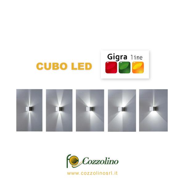 lampada da parete, Cubo LED, illuminazione a LEDGigra Line
