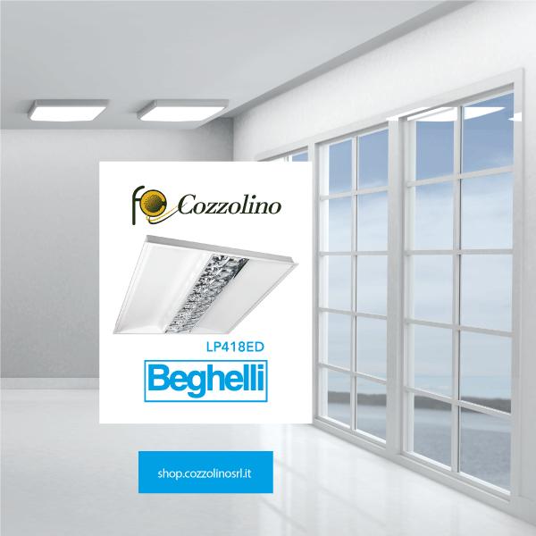 Lens Panel LED M600, pannello luminoso, Beghelli, LED, Cozzolino, illuminazione
