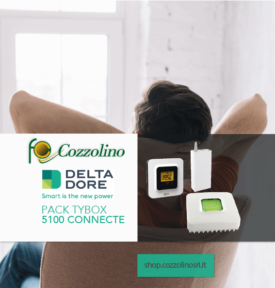 Pack Tybox 1500 Connecte, domotica, Delta Dore, Cozzolino